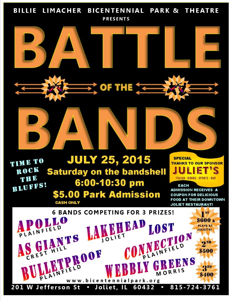 BATTLE OF THE BANDS - 6 FEATURED BANDS - Bicentennial Park - July 25, 2015