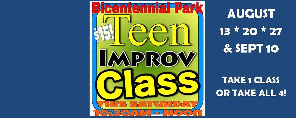 Teen Improv Workshop August 13-Sept 10, 2016
