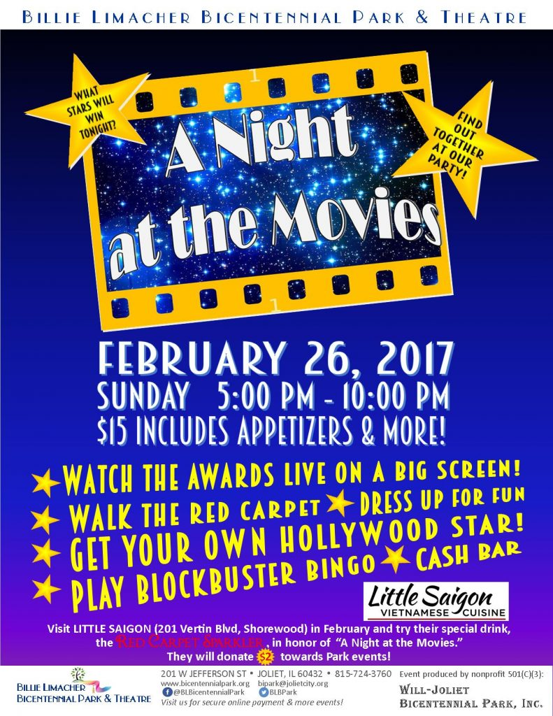 2017 Night at the Movies - Feb 26 Bicentennial Park Theatre - $2