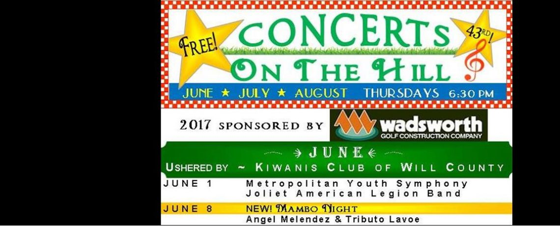 """2017 FREE """"Concerts On The Hill"""" Schedule"""