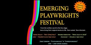 Emerging Playwrights Festival by Teens January 20, 2018